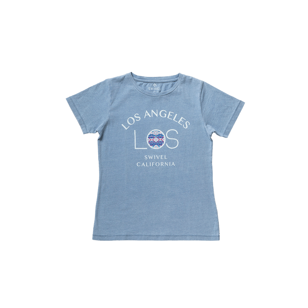 LA INDIGO WASHED TEE